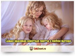 Самая красивая короткая притча о любви матери