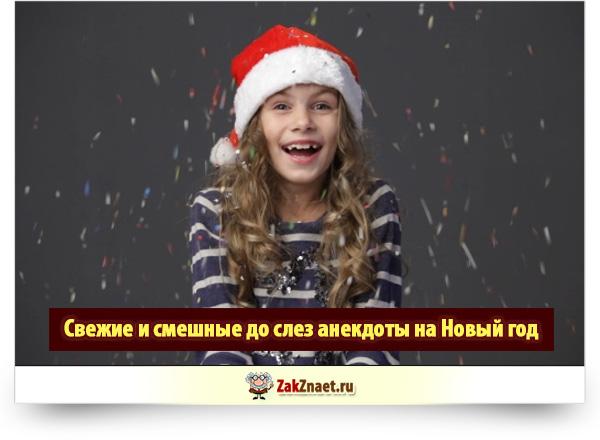 Свежие и смешные до слез анекдоты на Новый год